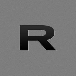Rogue 25mm Women's Russian Bar over top view of the bar laying diagonal with the end cap logo in the bottom right