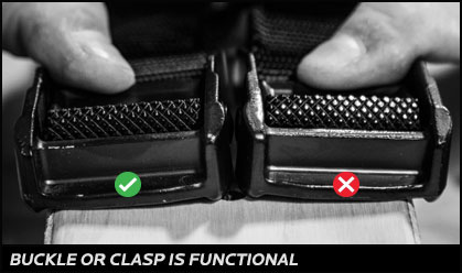 Buckle or clasp is functional