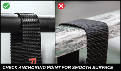 Check anchoring point for smooth surface