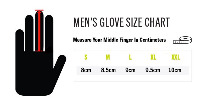 Men's Glove Size Chart