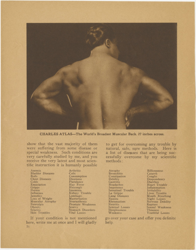 Charles Atlas--The World's Broadest Muscular Back